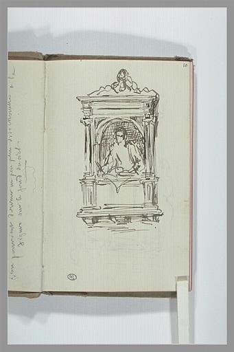 CHAPU Henri Michel Antoine : Projet pour une sculpture dans une architecture