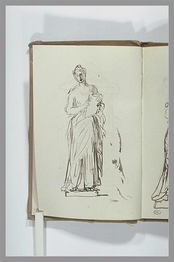CHAPU Henri Michel Antoine : Etude pour une statue de femme chantante