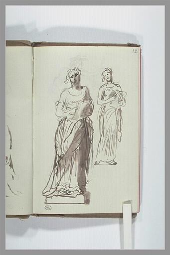 CHAPU Henri Michel Antoine : Deux études de femme chantant