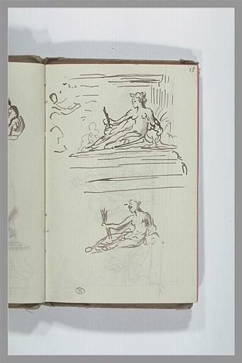 CHAPU Henri Michel Antoine : Deux études de statue féminine