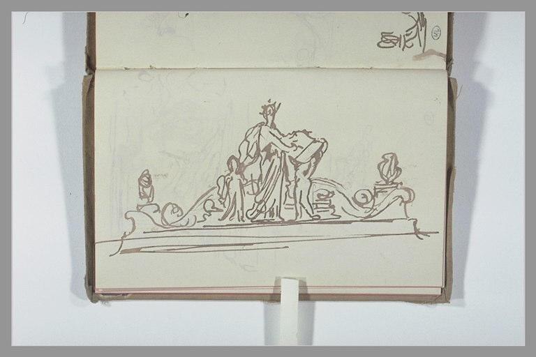 CHAPU Henri Michel Antoine : Projet pour un groupe sculptural au sommet d'un arc