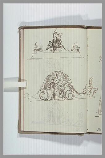 Projet pour un groupe sculptural au sommet d'un arc