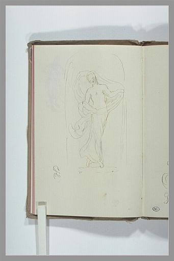 CHAPU Henri Michel Antoine : Statue de femme drapée, dansant, dans une niche