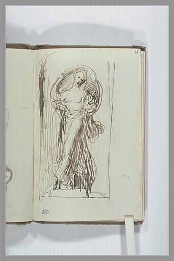 CHAPU Henri Michel Antoine : Statue de femme dans une niche
