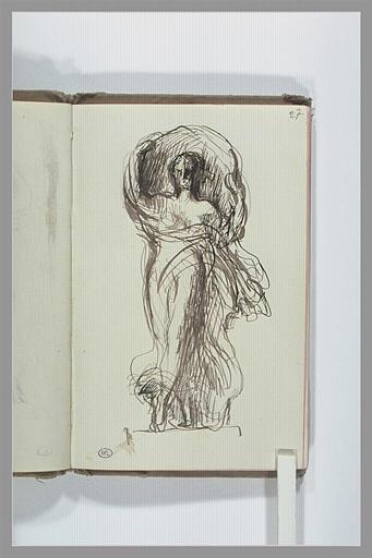 Statue de femme dans une niche