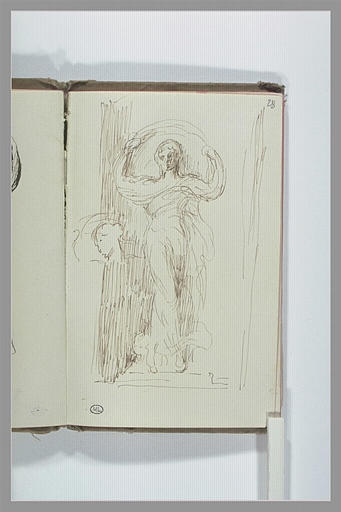 Statue de femme avec un voile