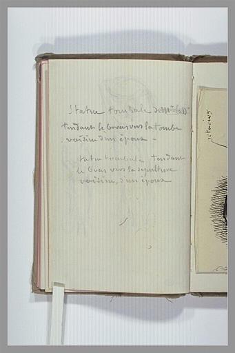 CHAPU Henri Michel Antoine : Note manuscrite