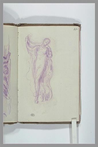 CHAPU Henri Michel Antoine : Figure drapée, dansant avec un voile