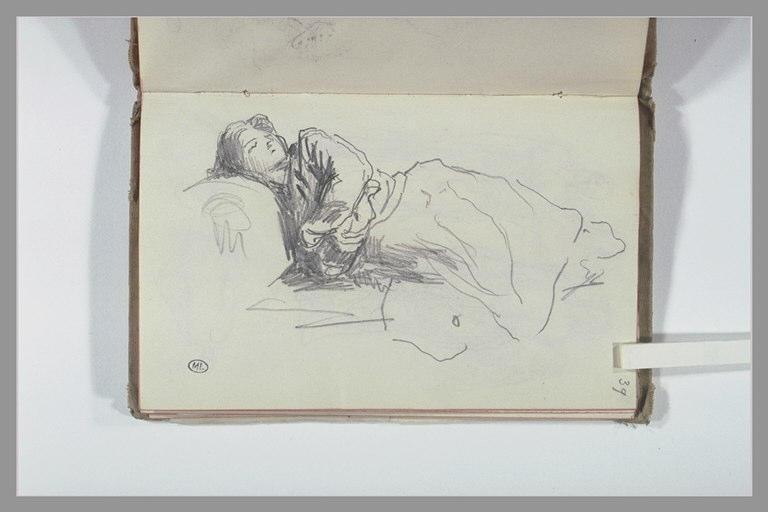 CHAPU Henri Michel Antoine : Femme endormie allongée