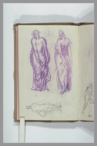 CHAPU Henri Michel Antoine : Trois figures drapées