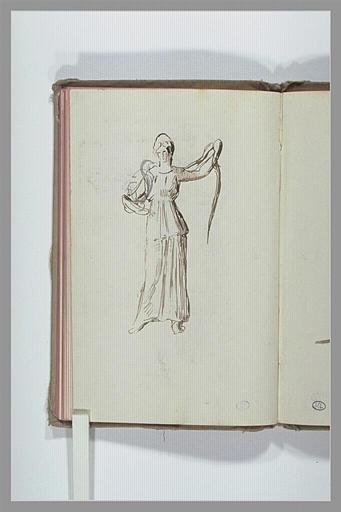 CHAPU Henri Michel Antoine : Figure drapée à l'antique