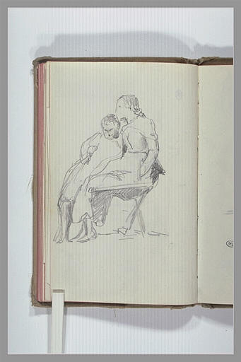 CHAPU Henri Michel Antoine : Deux enfants assis