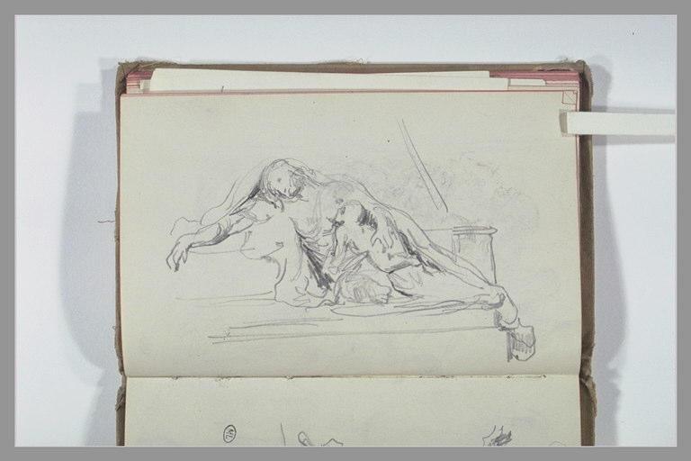 CHAPU Henri Michel Antoine : Femme avec son enfant