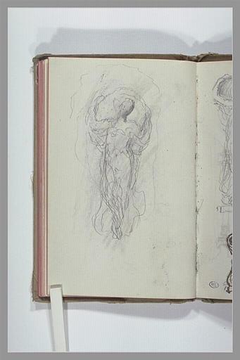 CHAPU Henri Michel Antoine : Figure tenant un voile