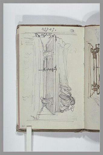 Etude pour un tombeau sculpté