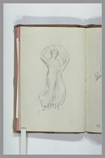 CHAPU Henri Michel Antoine : Figure drapée, tenant un voile