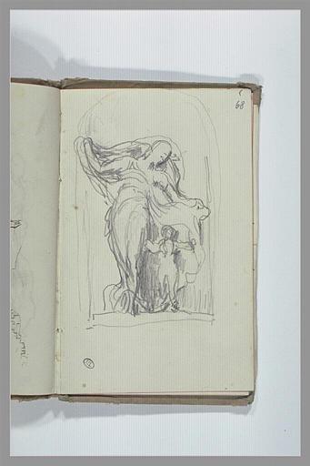 CHAPU Henri Michel Antoine : Figure drapée auprès d'un enfant