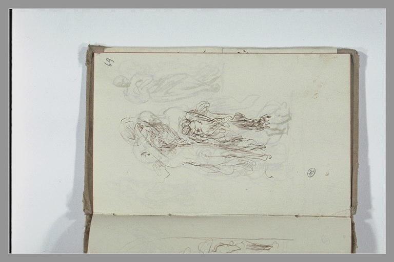CHAPU Henri Michel Antoine : Figure drapée auprès d'un ange