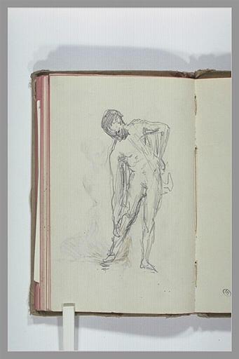 CHAPU Henri Michel Antoine : Etude de nu masculin