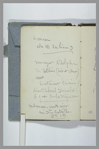 CHAPU Henri Michel Antoine : Liste d'adresses