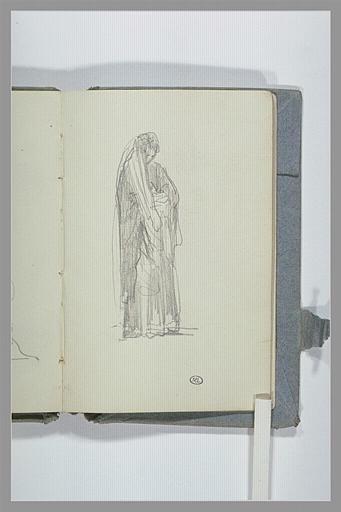 CHAPU Henri Michel Antoine : Figure drapée, debout