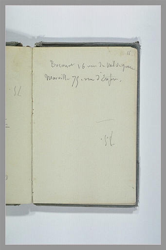 CHAPU Henri Michel Antoine : Note de deux adresses