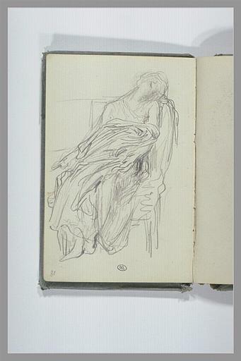 Figure, assise, la tête penchée sur l'épaule gauche_0