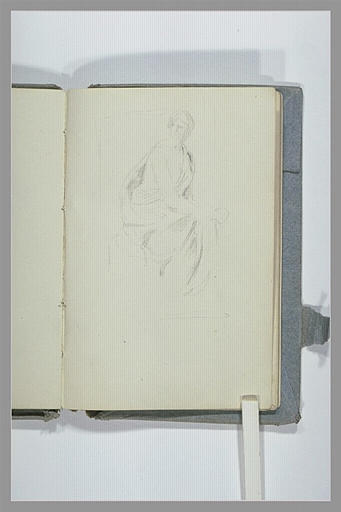 Esquisse d'une statue, drapée à l'antique_0