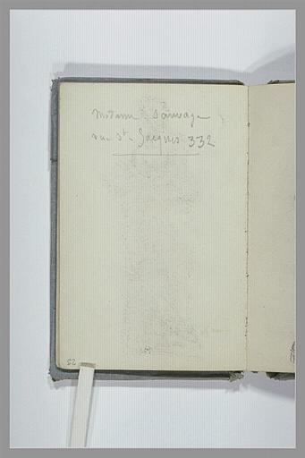 CHAPU Henri Michel Antoine : Note d'une adresse