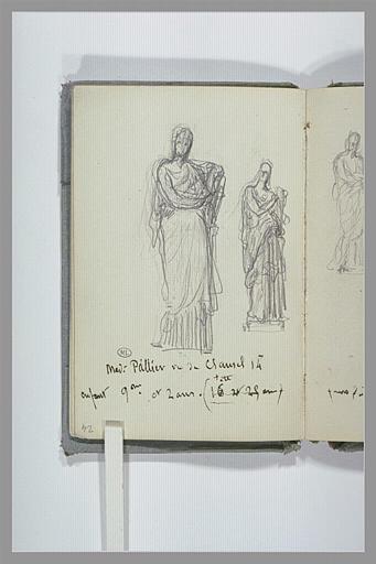 CHAPU Henri Michel Antoine : Deux esquisses de sculptures antiques