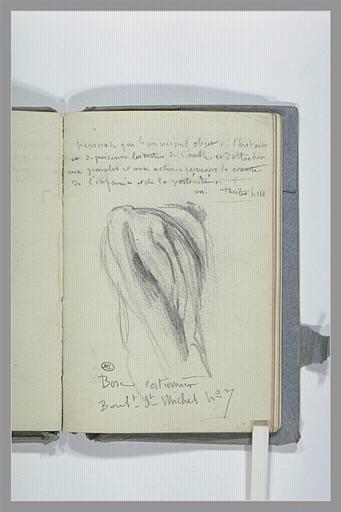 CHAPU Henri Michel Antoine : Draperie et annotations