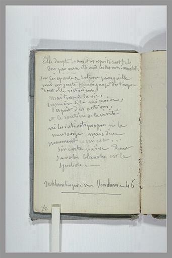 CHAPU Henri Michel Antoine : Texte manuscrit