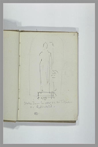 CHAPU Henri Michel Antoine : Statue dans une niche