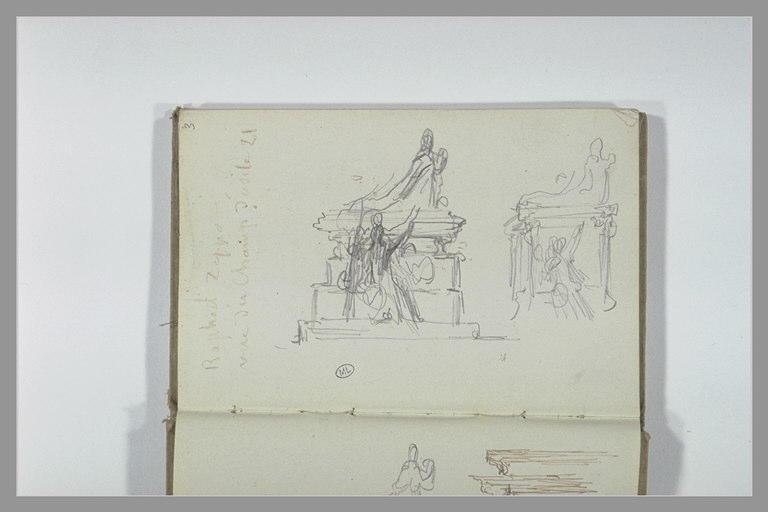 CHAPU Henri Michel Antoine : Tombeau avec des statues