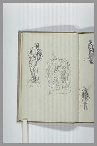 CHAPU Henri Michel Antoine : Figure et portrait encadré