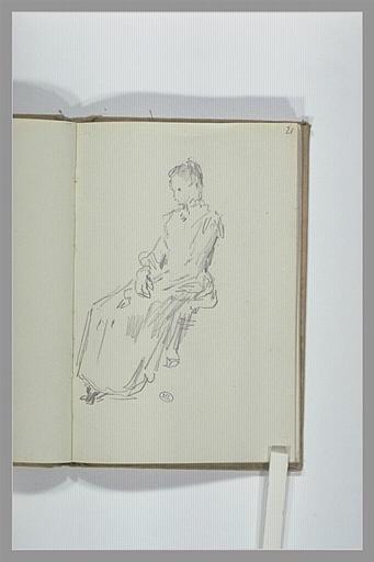 CHAPU Henri Michel Antoine : Femme assise