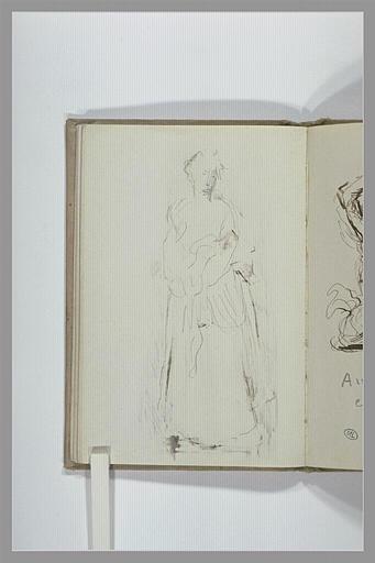 CHAPU Henri Michel Antoine : Femme debout