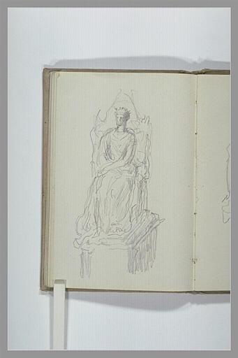 CHAPU Henri Michel Antoine : Personnage assis sur un trône