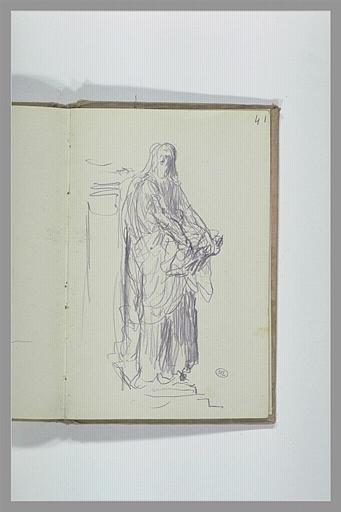 CHAPU Henri Michel Antoine : Figure drapée