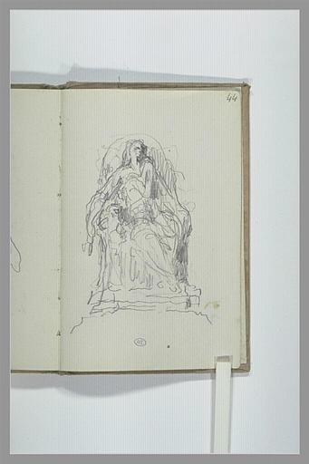 CHAPU Henri Michel Antoine : Figure assise