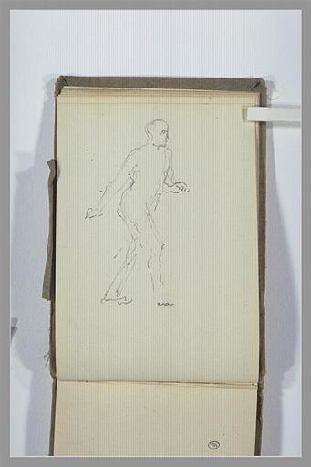 CHAPU Henri Michel Antoine : Figure marchant vers la droite