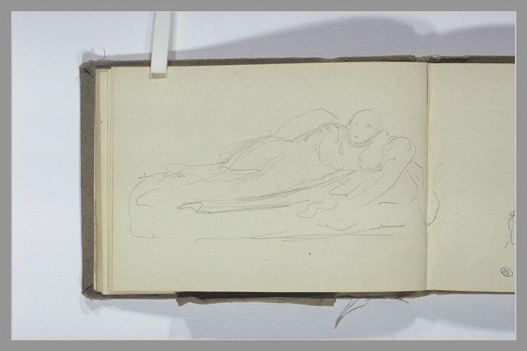 CHAPU Henri Michel Antoine : Une figure allongée