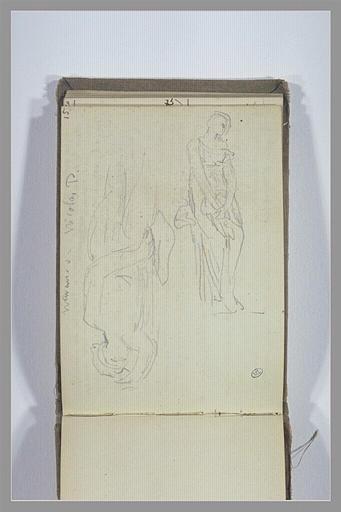 CHAPU Henri Michel Antoine : Figure allongée, figure debout