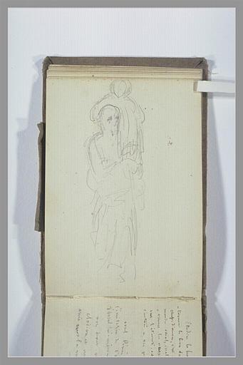 CHAPU Henri Michel Antoine : Figure portant un enfant