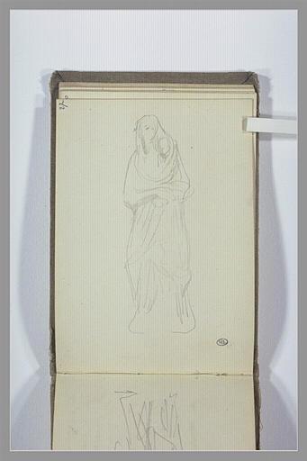 CHAPU Henri Michel Antoine : Statue d'une femme voilée et drapée