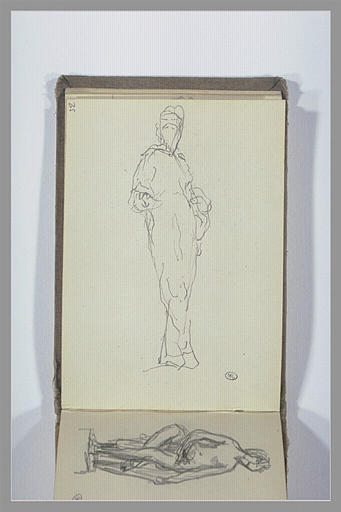 CHAPU Henri Michel Antoine : Figure debout