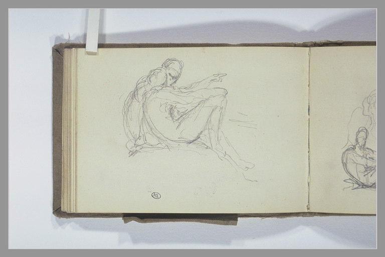 CHAPU Henri Michel Antoine : Deux figures assises