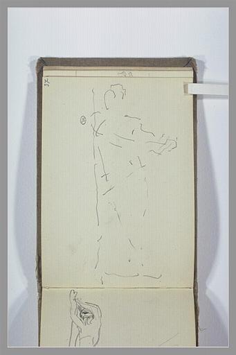 CHAPU Henri Michel Antoine : Silhouette de figure debout (?)