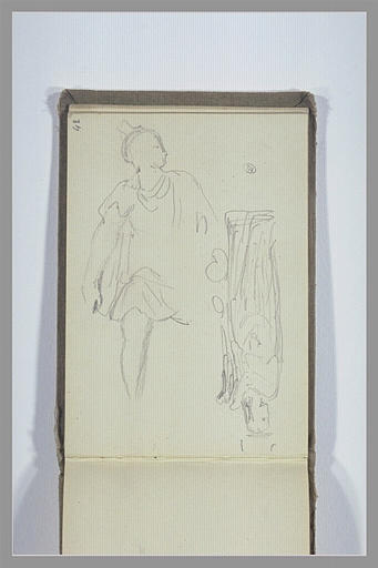 CHAPU Henri Michel Antoine : Figure, statue d'une figure debout