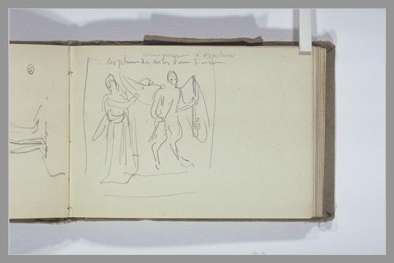 Deux figures et indication manuscrite